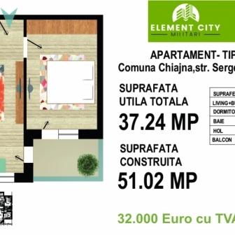Apartament 2 camere Element City Militari