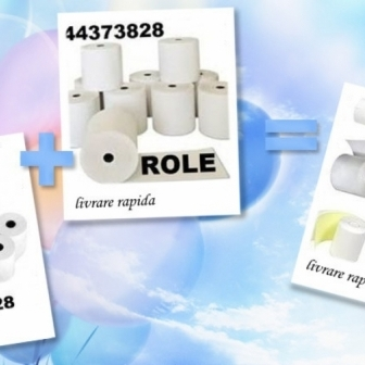 Role de hartie simple sau duble  0744373828 offset sau termice, cu livrare rapid