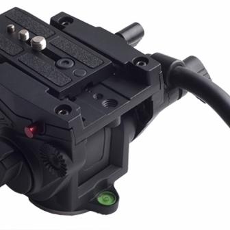 Wieldy Carbon Fiber Video Monopod + VT3510 ( Manfrotto 501HDV ) Fluid Head