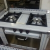 Aragaz profesional industrial 2 ochiuri si cuptor