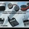 Cartus tusat si role hartie ptr. masini de calcul, calculatoare de birou.