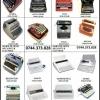 Consumabile &revizii masini de scris mecanice si electrice.