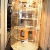 Display rotativ de masa, 70 cm, cu lumina, ocazie !