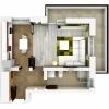 Garsoniera 38 mp + terasa 10 mp, decomandata, Sanpetru