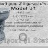 Jardiniera grup 3 ingerasi din beton model J1.