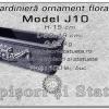 Jardiniera ornament floral din beton model J10.