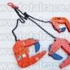 Lanturi si clesti pentru ridicare tuburi camine beton