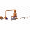 Linie brichetare 150-200 kg/ora brichete diametrul 60 mm din resturi vegetale