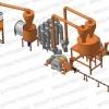 Linie brichetare brichete din rumegus 700 kg/ora cu diametru 70-75mm