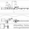 Linie completa brichetare brichete 300-400 kg/ora cu diametrul de 60mm