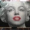 Marilyn Monroe. Panou Mdf cu vopsea acrilica. 118 X 164 cm.