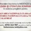 MEDITATII LIMBA ROMANA IASI