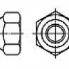 Piulita hexagonala cu insertie de plastic UNC/UNF  (Prevailing torque type hexag