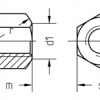 Piulita hexagonala inalta  (Hexagon high nut)