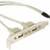 Placa cu conectori (Slot bracket) 1x intern USB la 2x USB2.0 extern – 71000