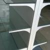 Rafturi metalice de supermarket cu polite de sticla