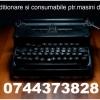 Reconditionam masini de scris+ consumabile.