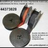 Rola impregnata cu tus 13 mm pentru masina de scris, bicolora si monocroma.