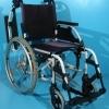 Scaun cu rotile cu spatar si sezut decolorat Breezy / 43 cm
