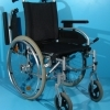 Scaun cu rotile din aluminiu B+B-fara suporti de picioare / 40 cm