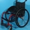 Scaun cu rotile din aluminiu second hand/latime sezut 46 cm