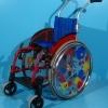 Scaun cu rotile pentru copii/latime sezut 28 cm