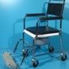 Scaun cu WC second hand cu suportii pentru picioare negrii