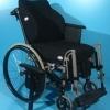 Scaun handicap din aluminiu nepliabil Netti 24 luni garantie