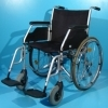 Scaun handicap dotat cu frane pentru pacient