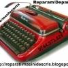 Service & consumabile ptr. masini de scris mecanice si electrice.