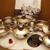 Set oale vase inox + tigaie set 16 piese nou import Germania