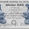 Statueta sirena cu scoica din beton model S49.