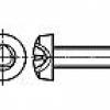 Surub cap bombat trilobat Pan head thread rolling screws for metric ISO thread