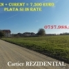 Teren in RATE + curent – 7.300 euro lotul – comuna Berceni