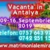 Vacanta Antalya 09-16 Septembrie Singles-plaja, mare si mult soare